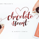 Chocolate Heart Script Font - GraphicRiver Item for Sale