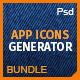 Icons Bundle: App Icons Generator 3 in 1 - GraphicRiver Item for Sale