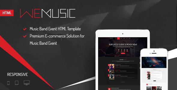WeMusic – Music Band Event HTML Template