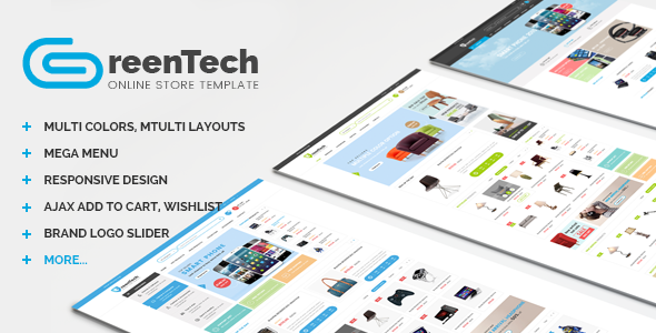 GreenTech - PSD Shopping Template - Shopping Retail