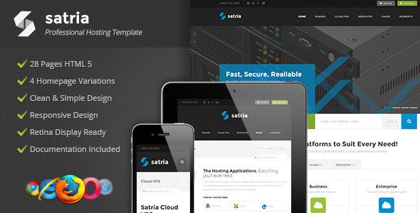Satria – Professional Hosting HTML5 Template