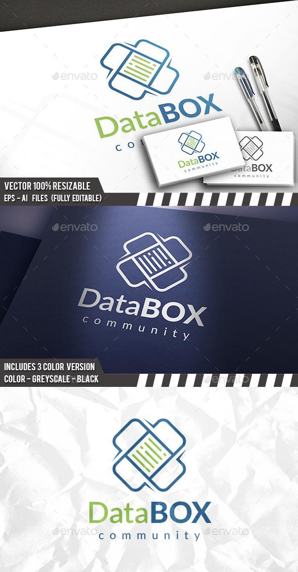 Data Box Logo - Vector Abstract