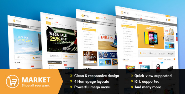 Market – Responsive Multipurpose OpenCart Theme