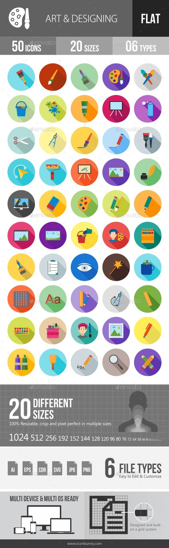 Art & Designing Flat Shadowed Icons - Icons