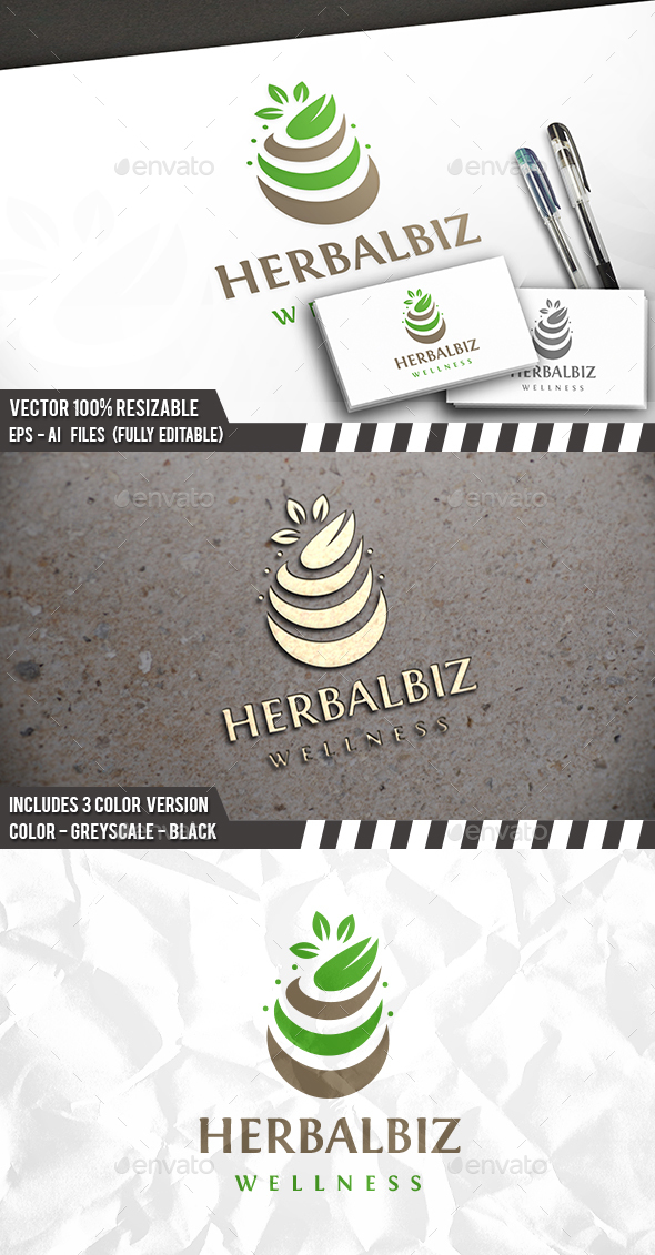 Herbal Eco Logo - Nature Logo Templates