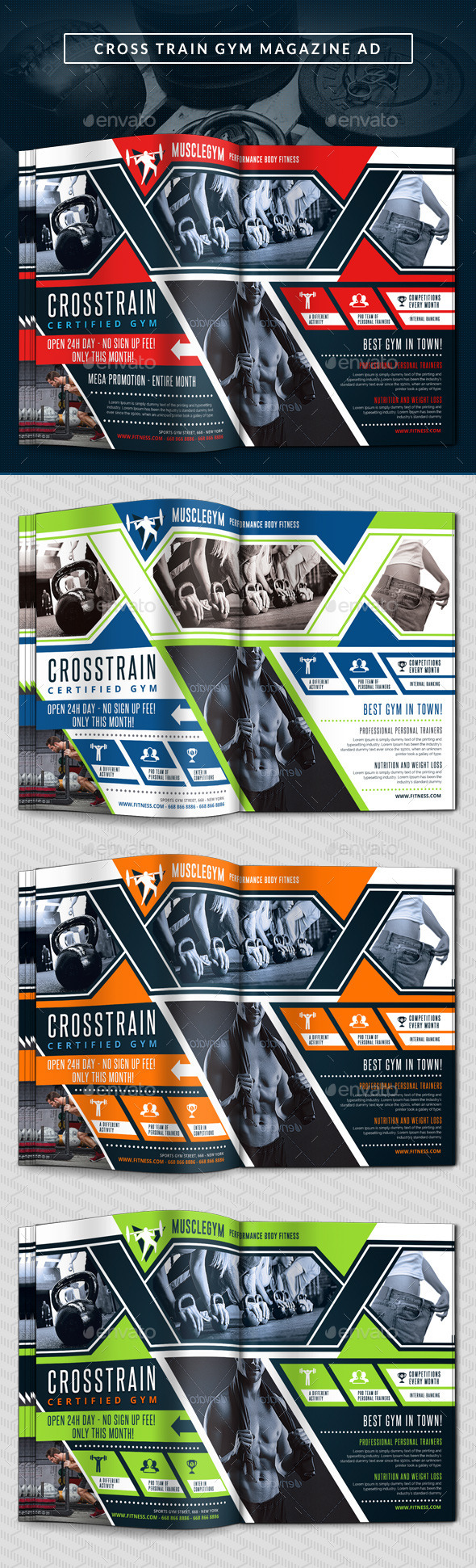 Cross Training Gym Magazine Ad - Magazines Print Templates