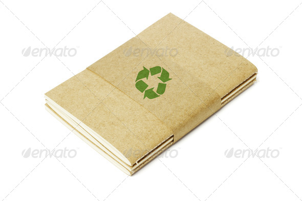 Thread Sew Books with Recycled Symbol - Stock Photo - Images