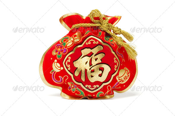 Chinese New Year Gift Bag - Stock Photo - Images