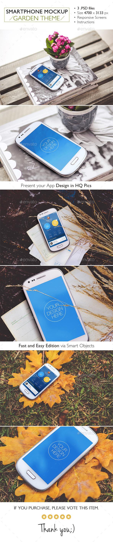 Smartphone Mockup Garden Theme - Mobile Displays