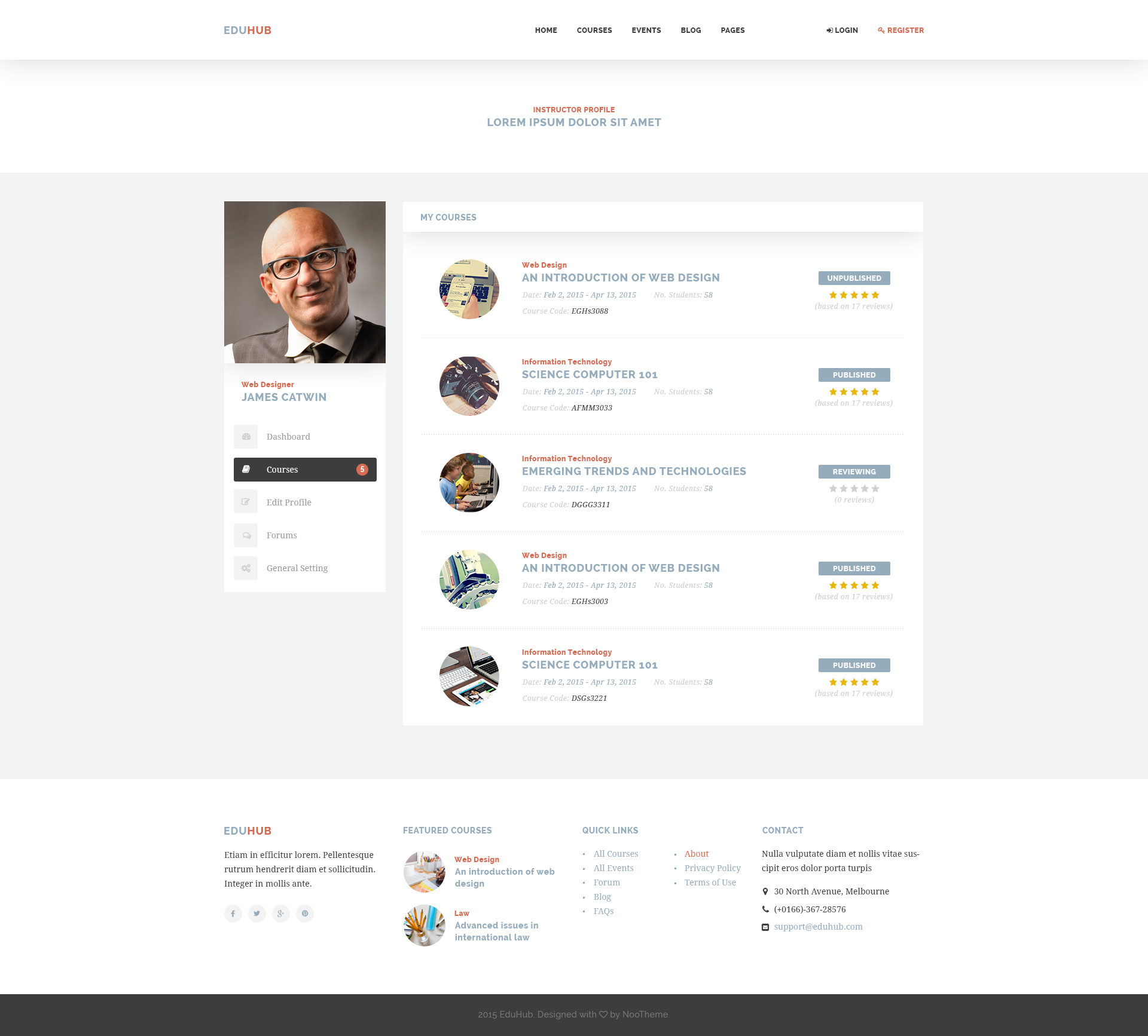 EduHub - Learning Management System PSD Template by NooThemePSD ...