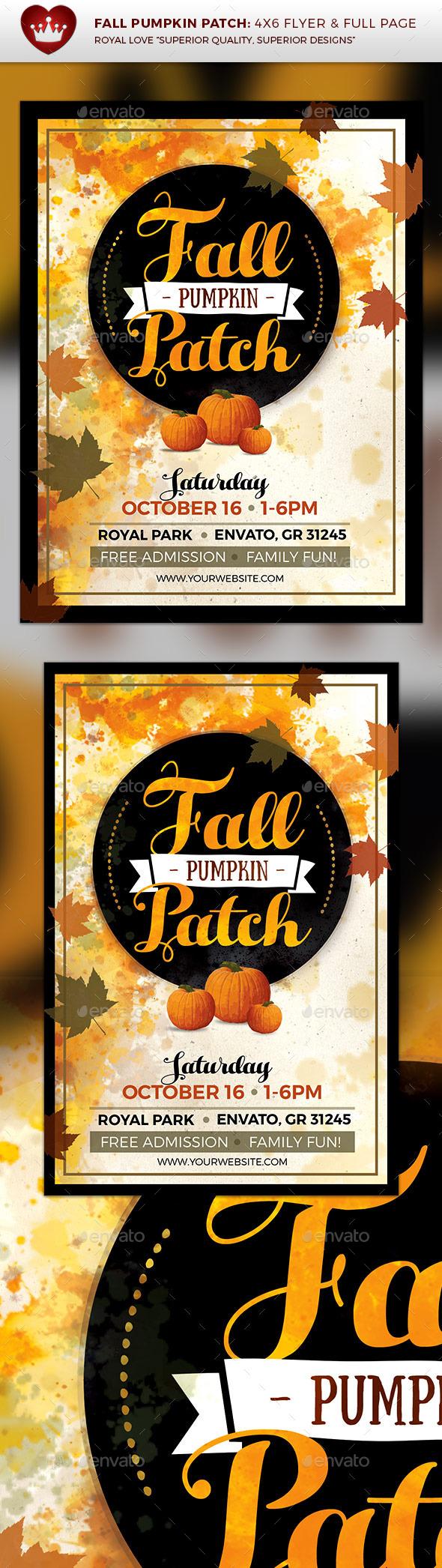 Fall Pumpkin Patch Flyer - Events Flyers