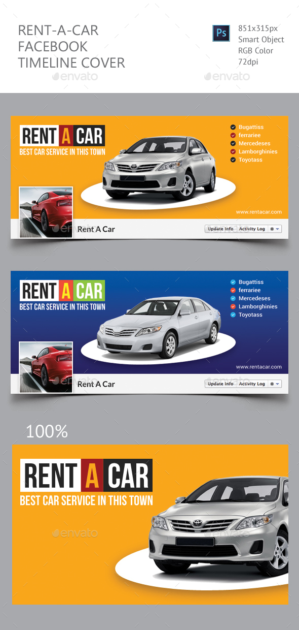 Rent A Car Facebook Timeline Cover - Facebook Timeline Covers Social Media
