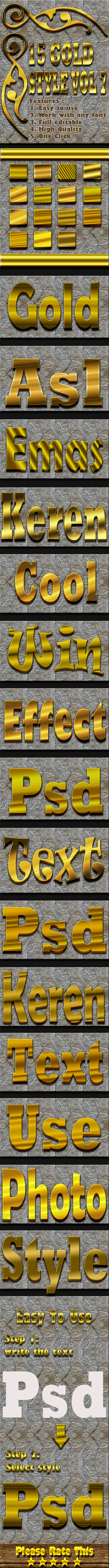 15 Gold Text Effect Style Vol 7 - Text Effects Styles