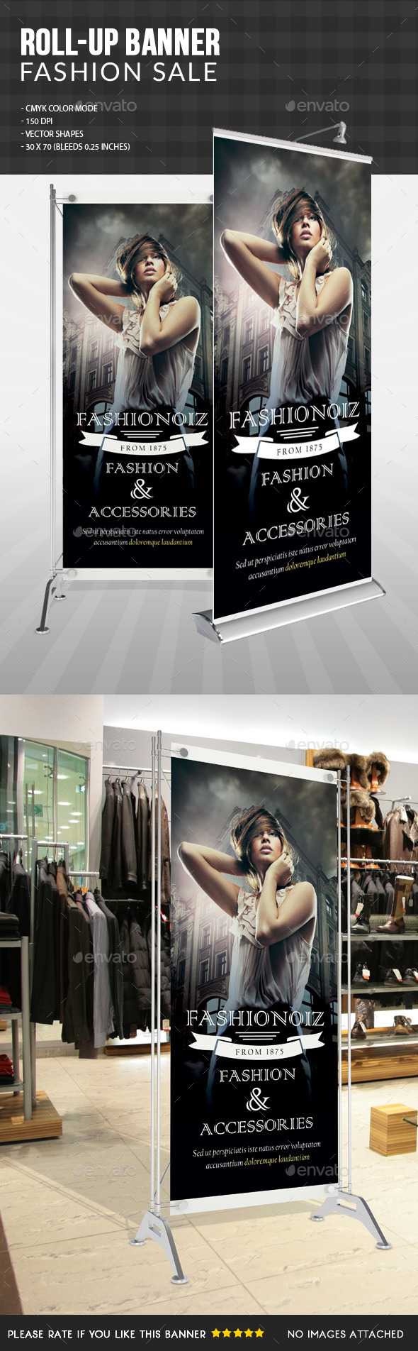 Fashion Sale Roll Up Banner  - Signage Print Templates
