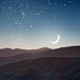 Setting Moon Over The Mountains - VideoHive Item for Sale