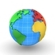 World Map Turns Into a Globe - VideoHive Item for Sale