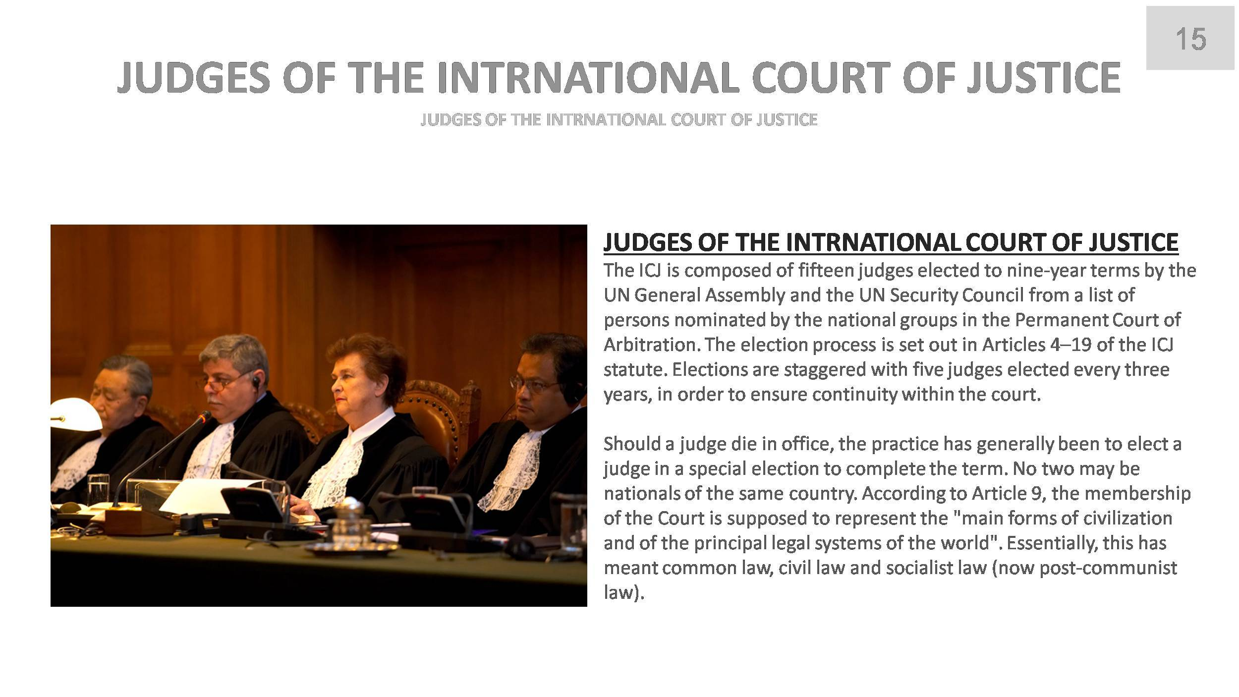An analysis of the international court of justice