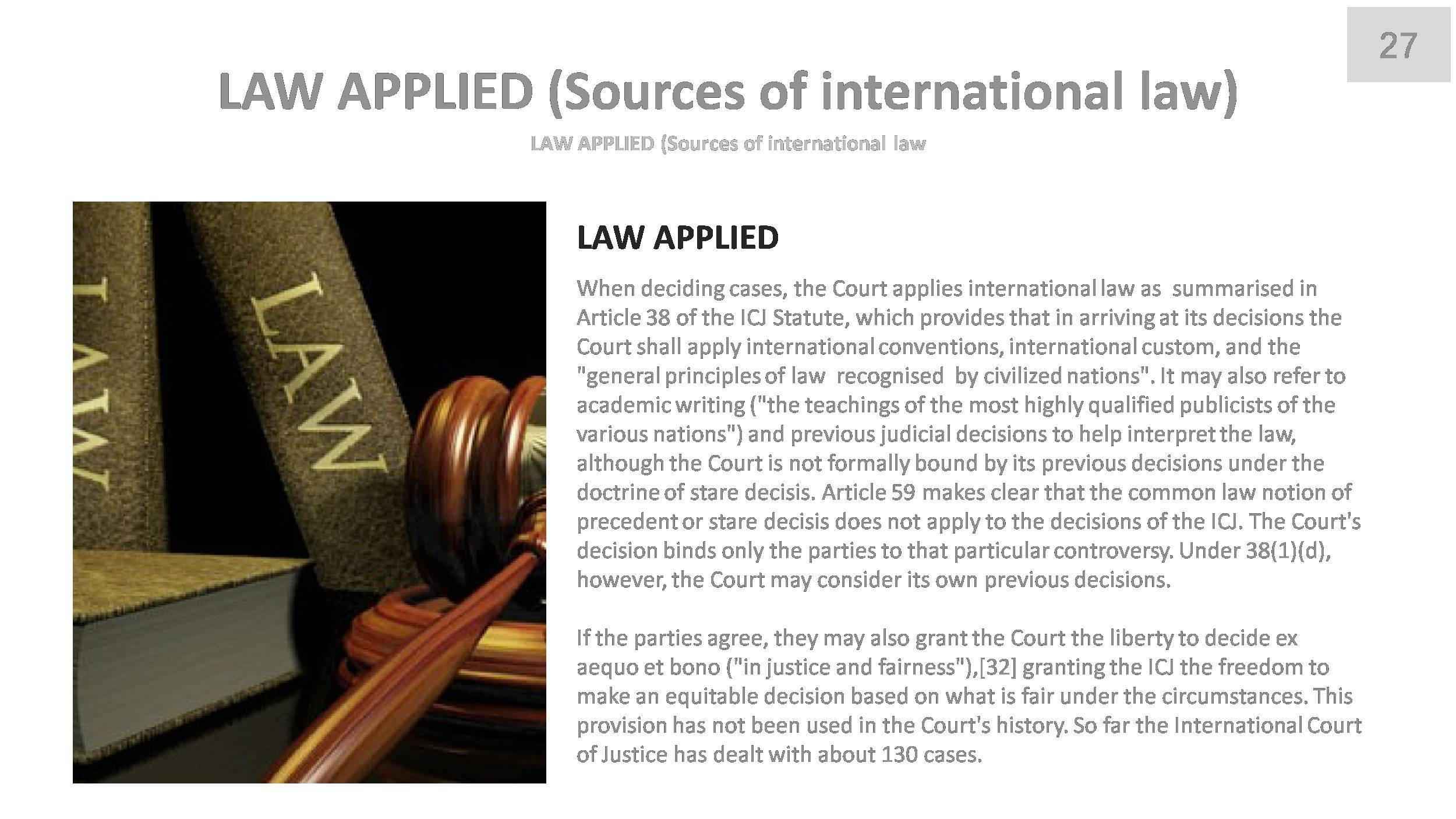 an analysis of the international court of justice The publications of the international court of justice are published by the registry, in several series, certain of which are available in electronic version.