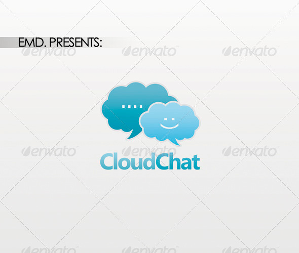 Cloud Chat Logo - Symbols Logo Templates