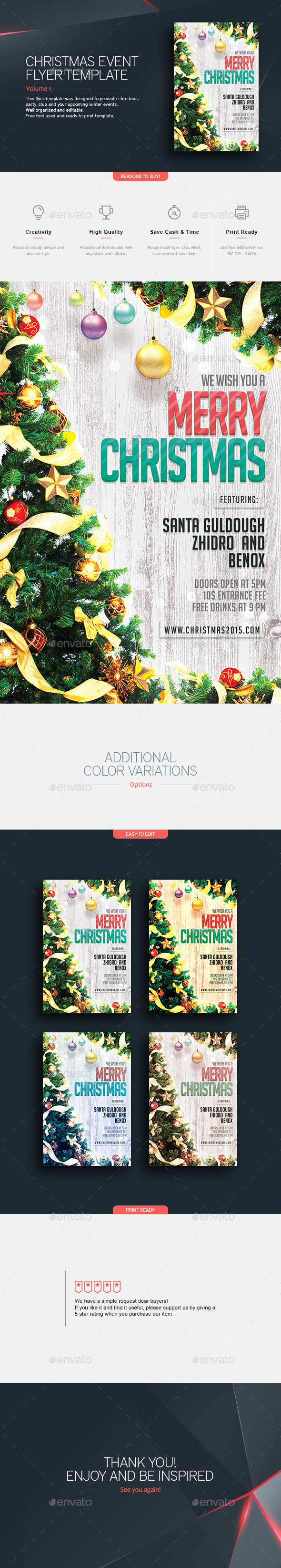 Christmas Party - Flyer Template - Holidays Events