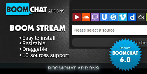 Boom stream for Boomchat PHP/AJAX chat - CodeCanyon Item for Sale