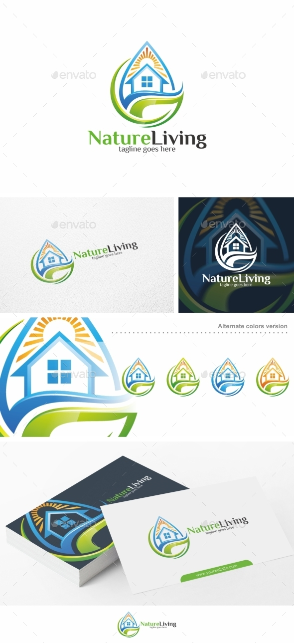 Nature Living / House - Logo Template - Nature Logo Templates