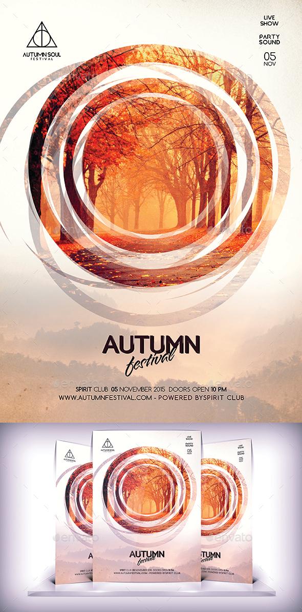 Autumn Festival Flyer - Flyers Print Templates