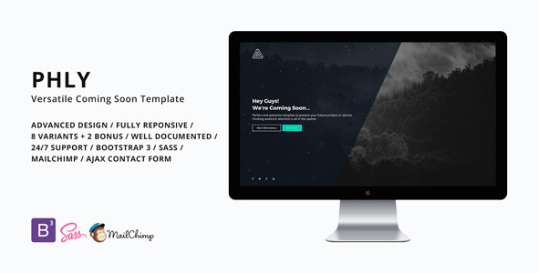 PHLY – Versatile Coming Soon Template