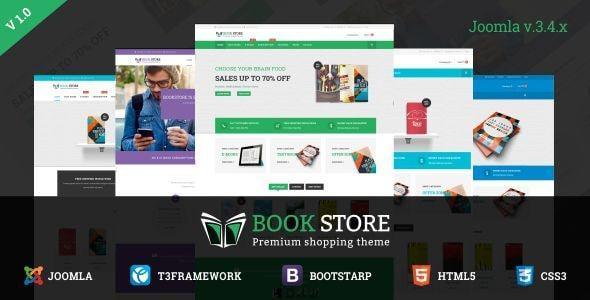 Bookstore – Responsive Joomla Ecommerce Template