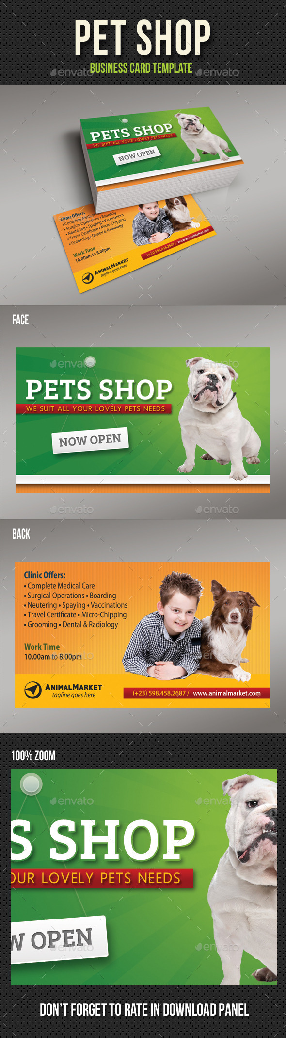 Pet Shop Business Card - Creative Business Cards