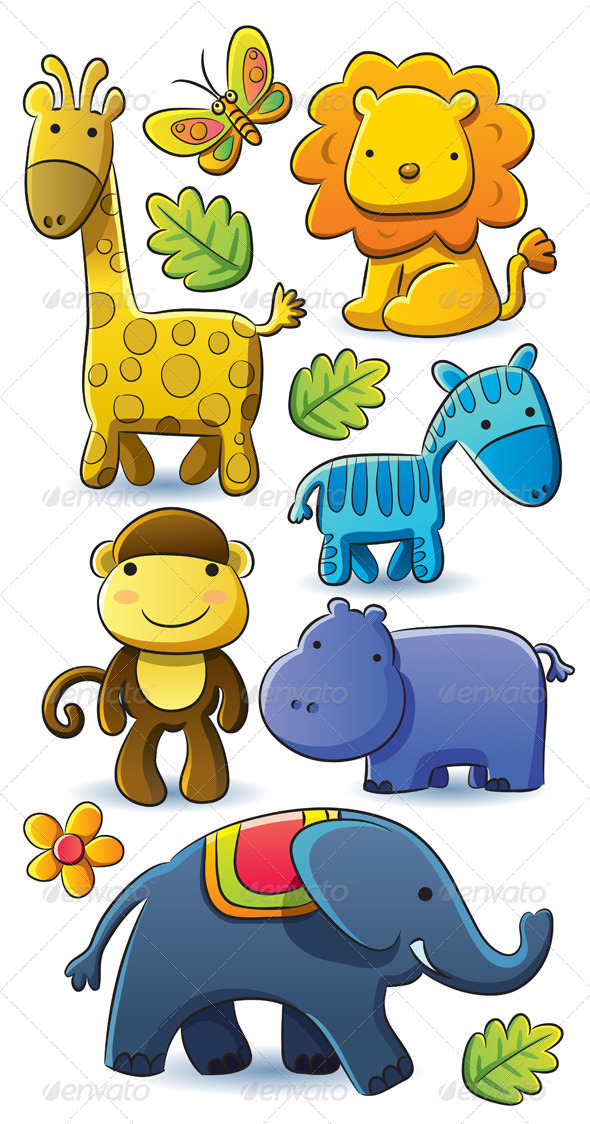 Cute Animals Collection - Animals Characters