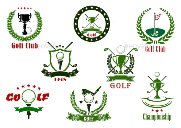 Golf Club And Tournament  Sport Icons - Sports/Activity Conceptual