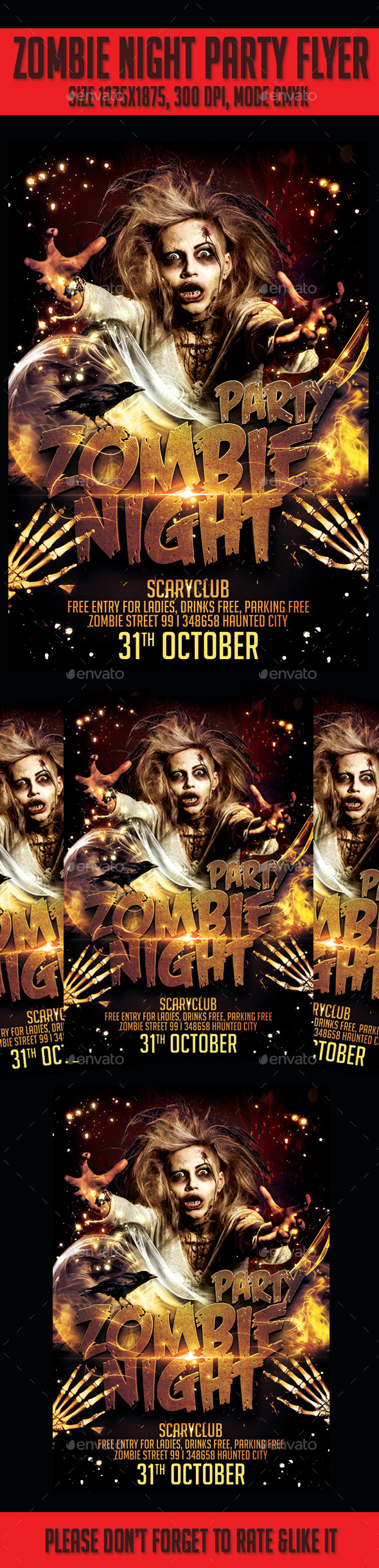 Zombie Night  Party Flyer  - Events Flyers