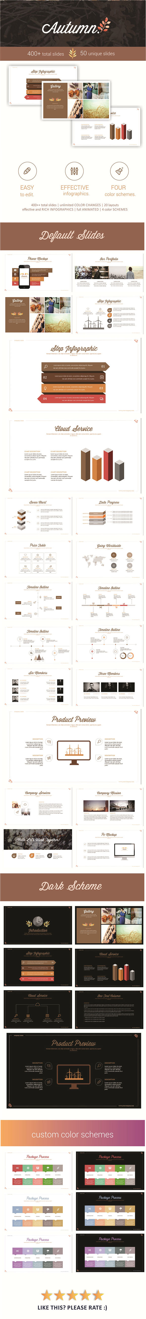Autumn PowerPoint Template - Business PowerPoint Templates