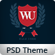 Western University | Educational PSD Theme - ThemeForest Item for Sale