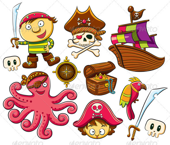 Pirate Collection Set - Characters Vectors