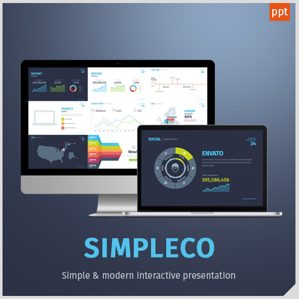 Simpleco: Minimalistic Business Powerpoint Template
