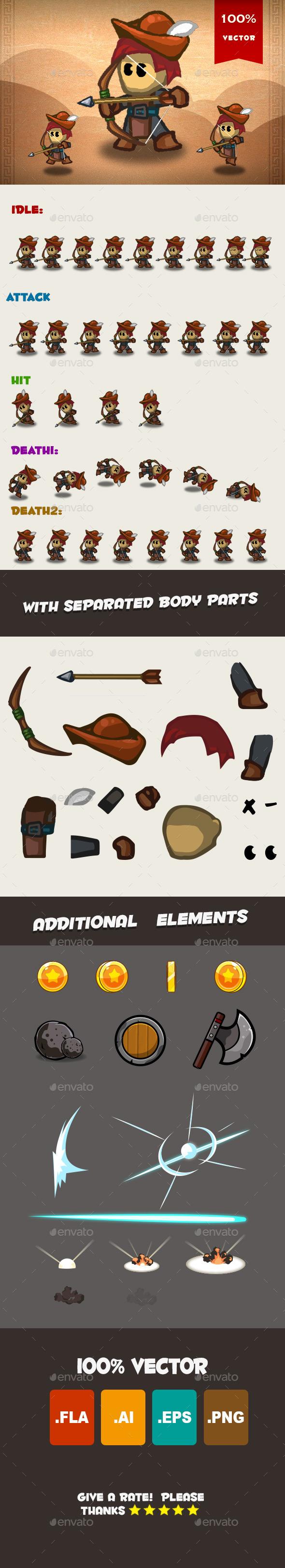 Archer Spritesheet 01 - Sprites Game Assets