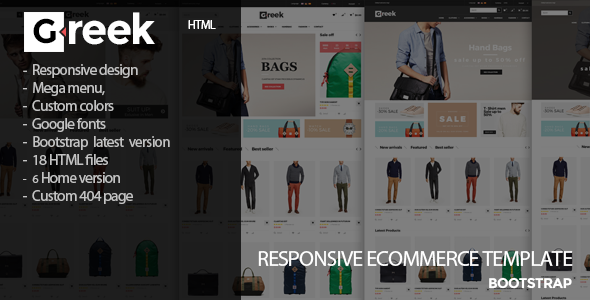 Greek – Fashion eCommerce  HTML5 Template
