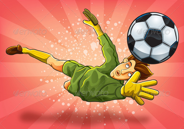 Goalkeeper Jump Catch a Ball - Sports/Activity Conceptual