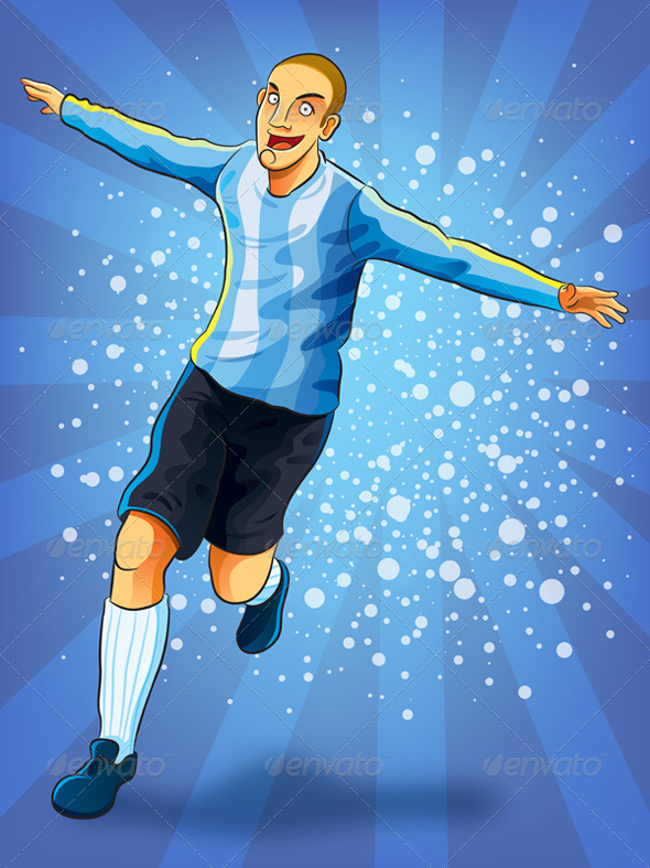 Soccer Player Celebrating Goal - Sports/Activity Conceptual