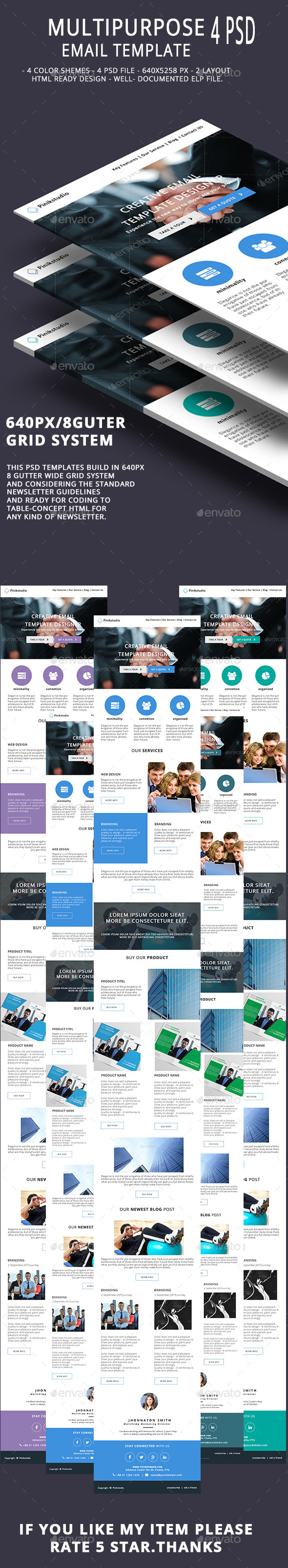Multipurpose Email Template V5 - E-newsletters Web Elements