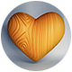Wood Heart - 3DOcean Item for Sale