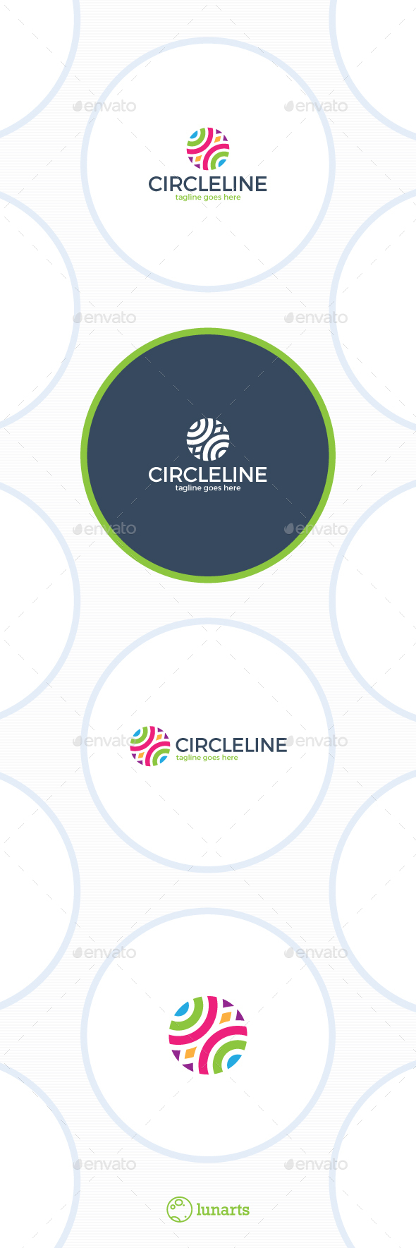 Abstract Color Circle Logo - Abstract Logo Templates