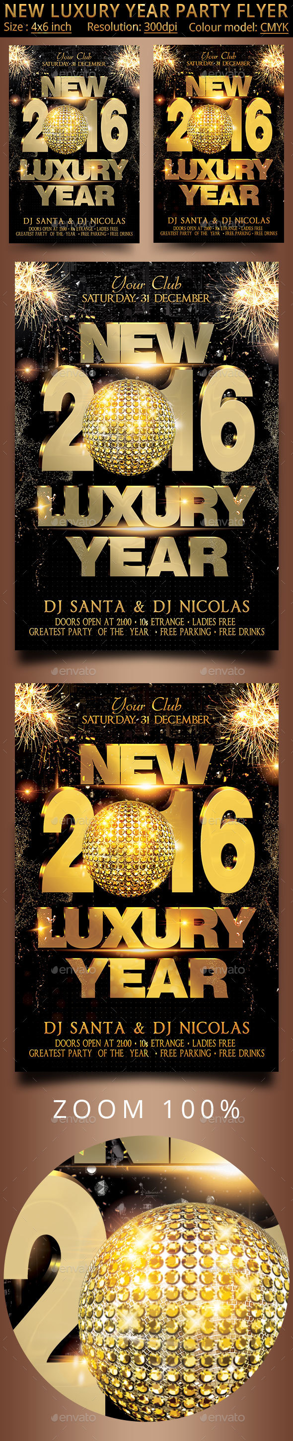 New Luxury Year Party Flyer - Clubs & Parties Events