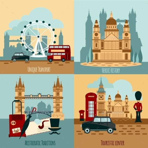 London Touristic Set - Travel Conceptual