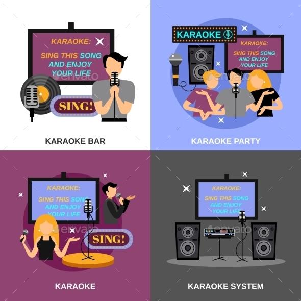 Karaoke Flat Set - People Characters