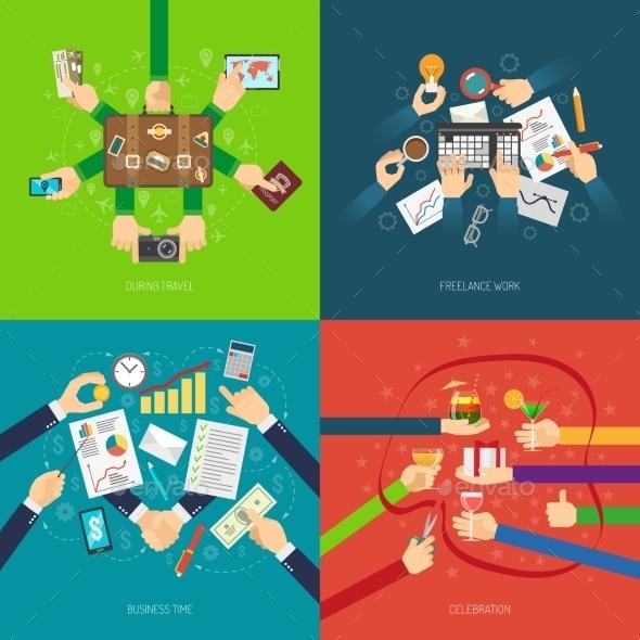 Hand Design Concept - Concepts Business