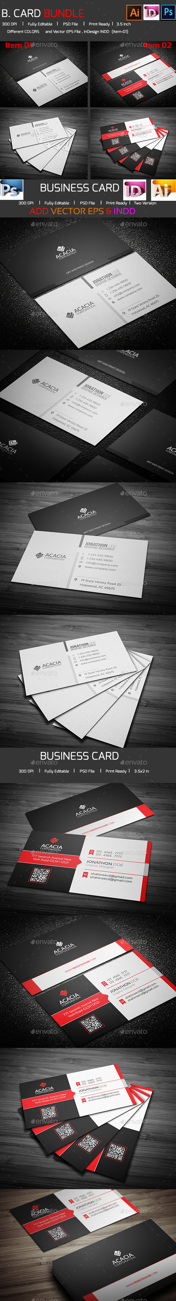 Bundle- 2 in 1 Business Card_04 - Corporate Business Cards