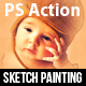 Sketch Painting Photoshop Action - GraphicRiver Item for Sale